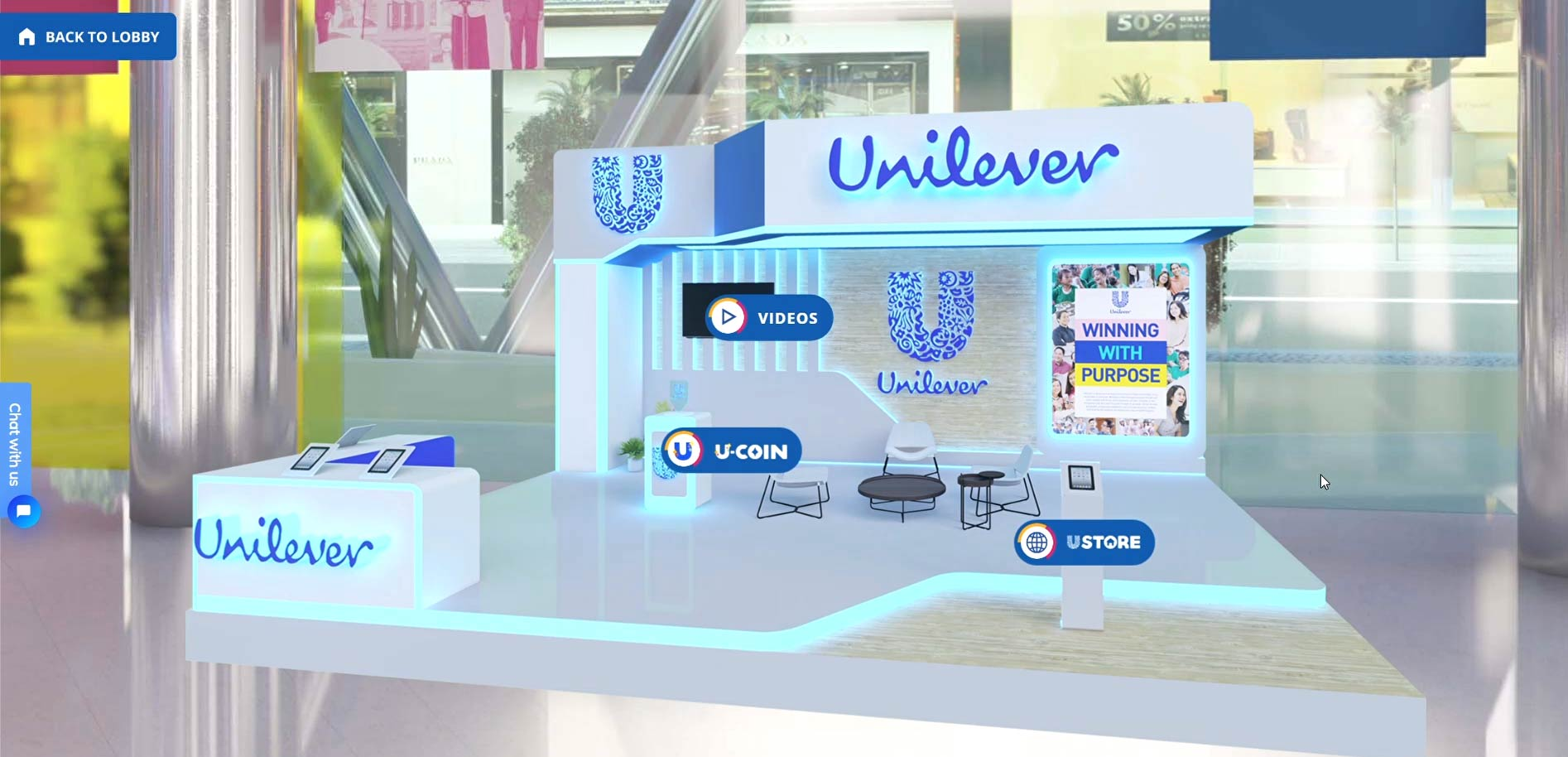 Unilever's booth